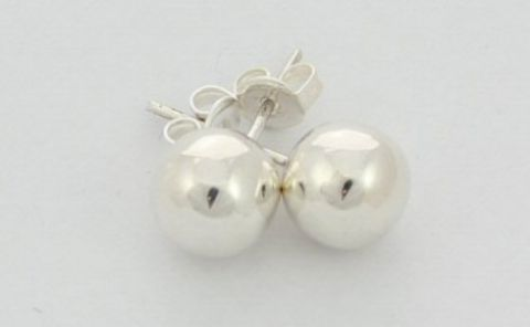 Sterling Silver Ball Earstuds